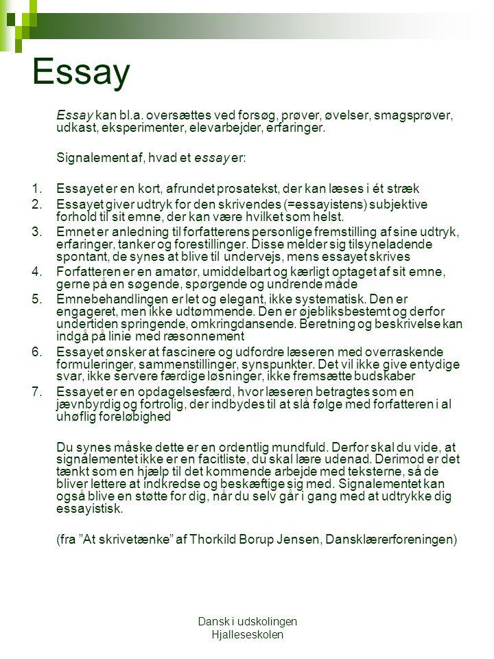 Dansk i udskolingen Hjalleseskolen