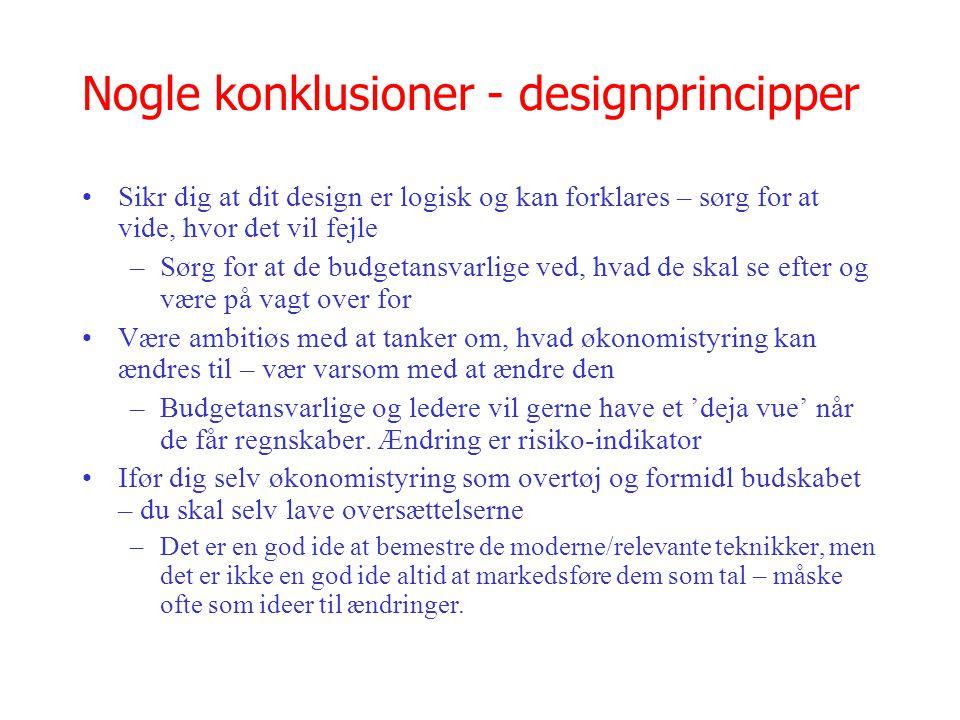 Nogle konklusioner - designprincipper