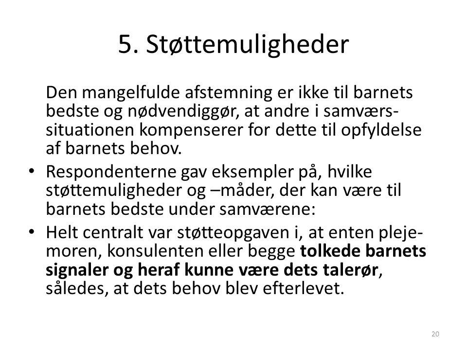5. Støttemuligheder