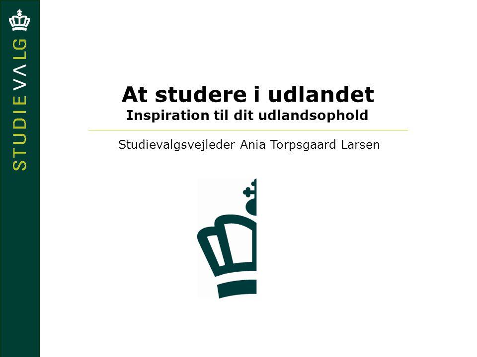 At studere i udlandet Inspiration til dit udlandsophold