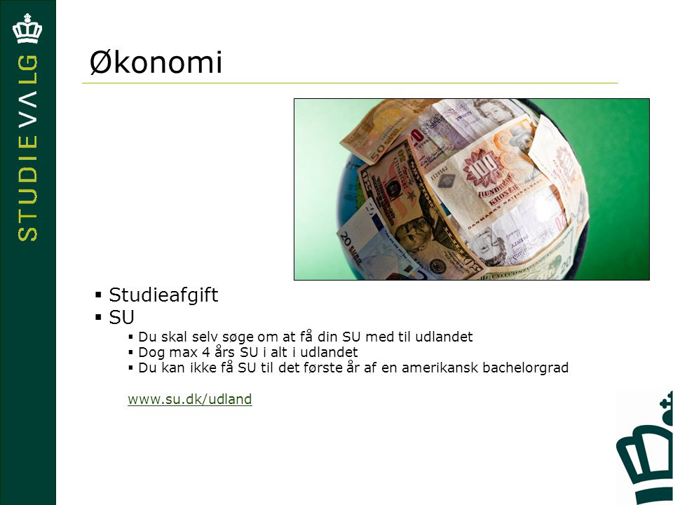 Økonomi Studieafgift SU