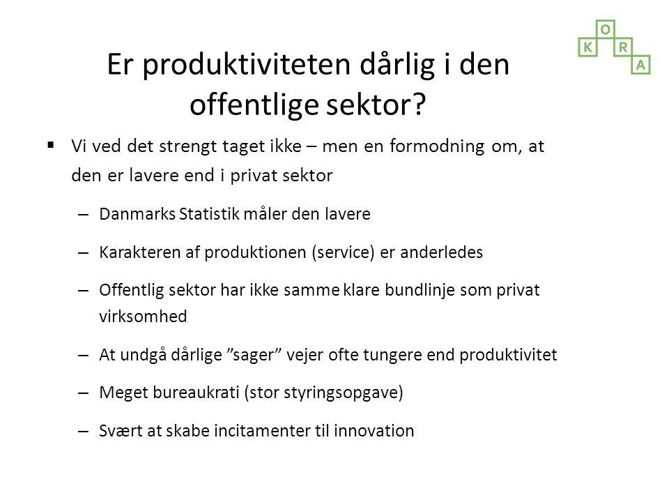 Er produktiviteten dårlig i den offentlige sektor