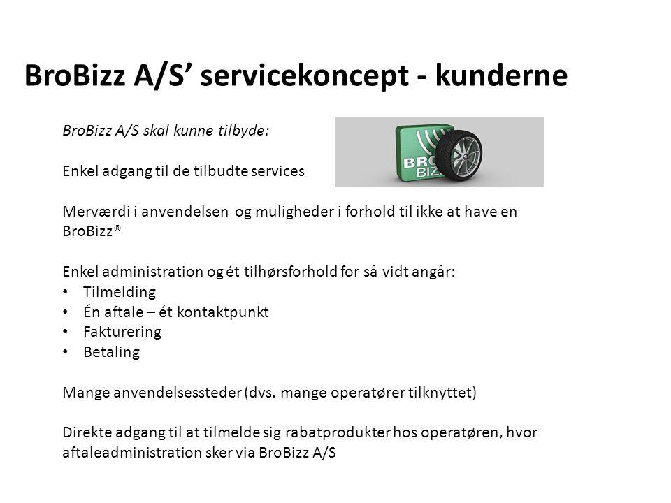 BroBizz A/S' servicekoncept - kunderne