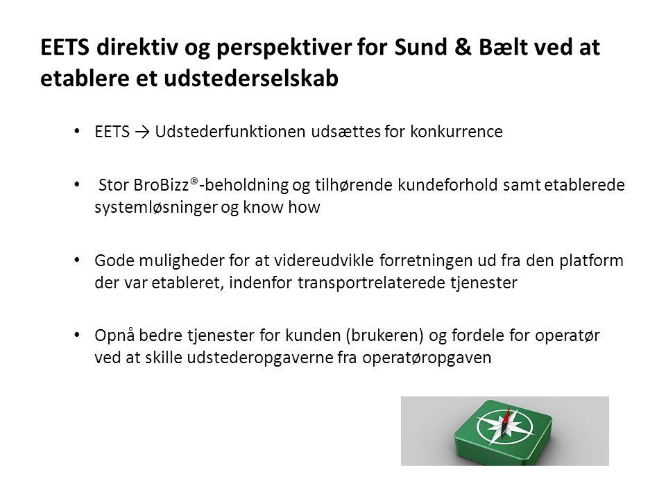 EETS direktiv og perspektiver for Sund & Bælt ved at etablere et udstederselskab