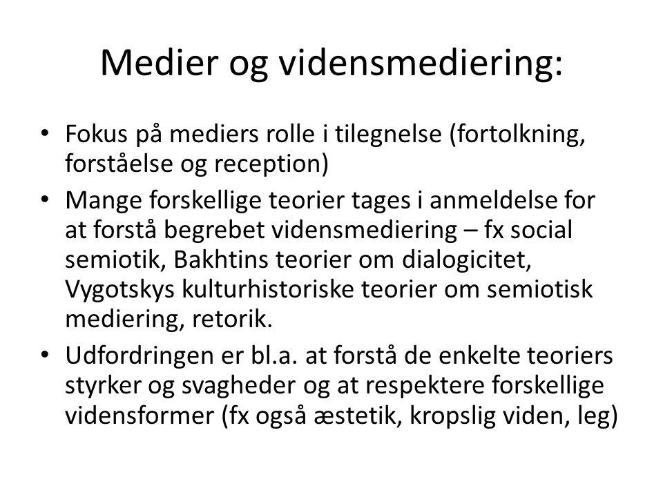 Medier og vidensmediering: