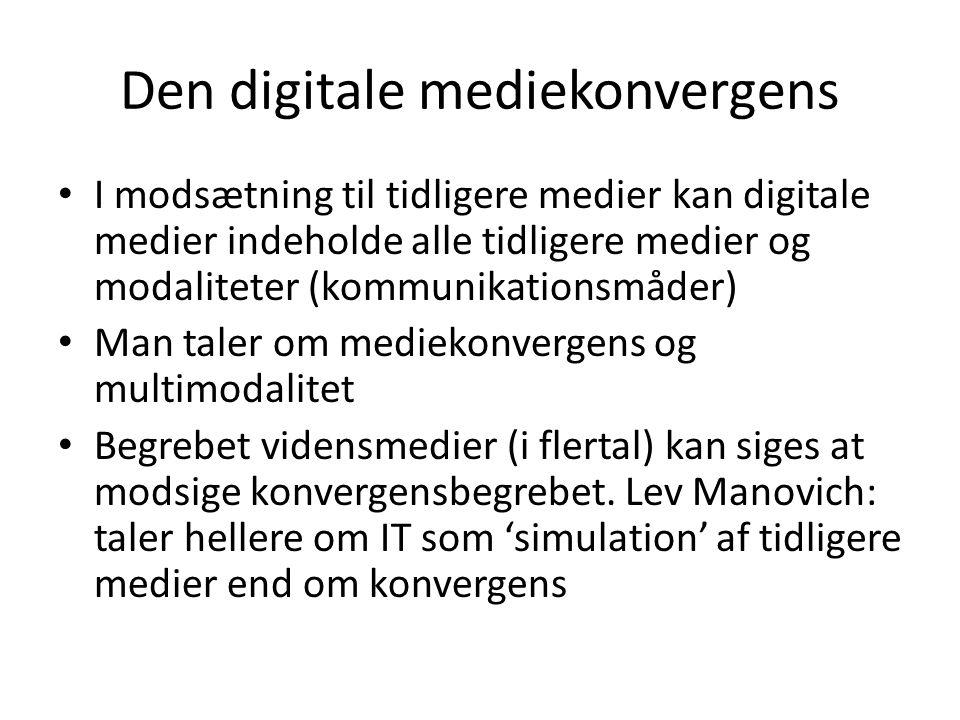 Den digitale mediekonvergens