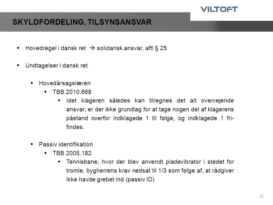 SKYLDFORDELING, TILSYNSANSVAR