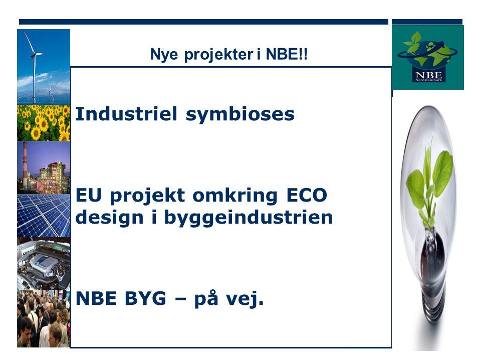 EU projekt omkring ECO design i byggeindustrien