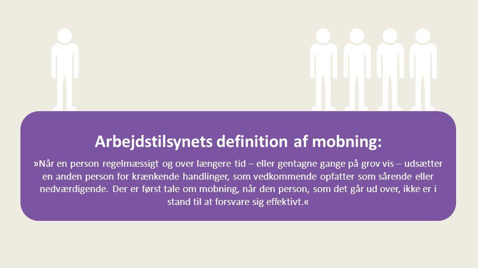 Arbejdstilsynets definition af mobning: