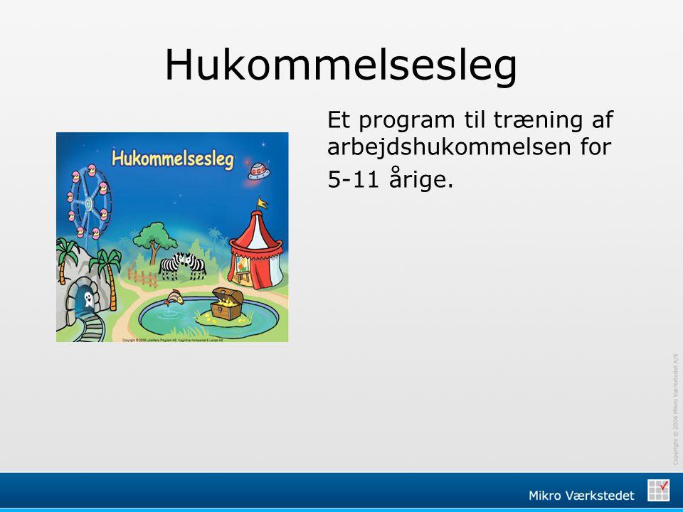 Hukommelsesleg Et program til træning af arbejdshukommelsen for