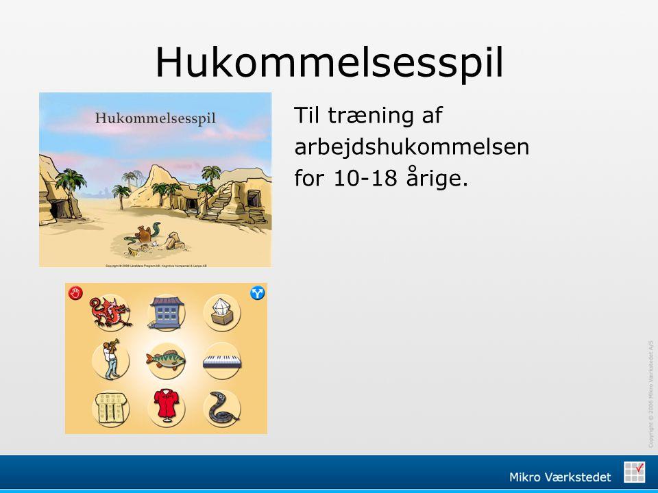 Hukommelsesspil Til træning af arbejdshukommelsen for 10-18 årige. 2