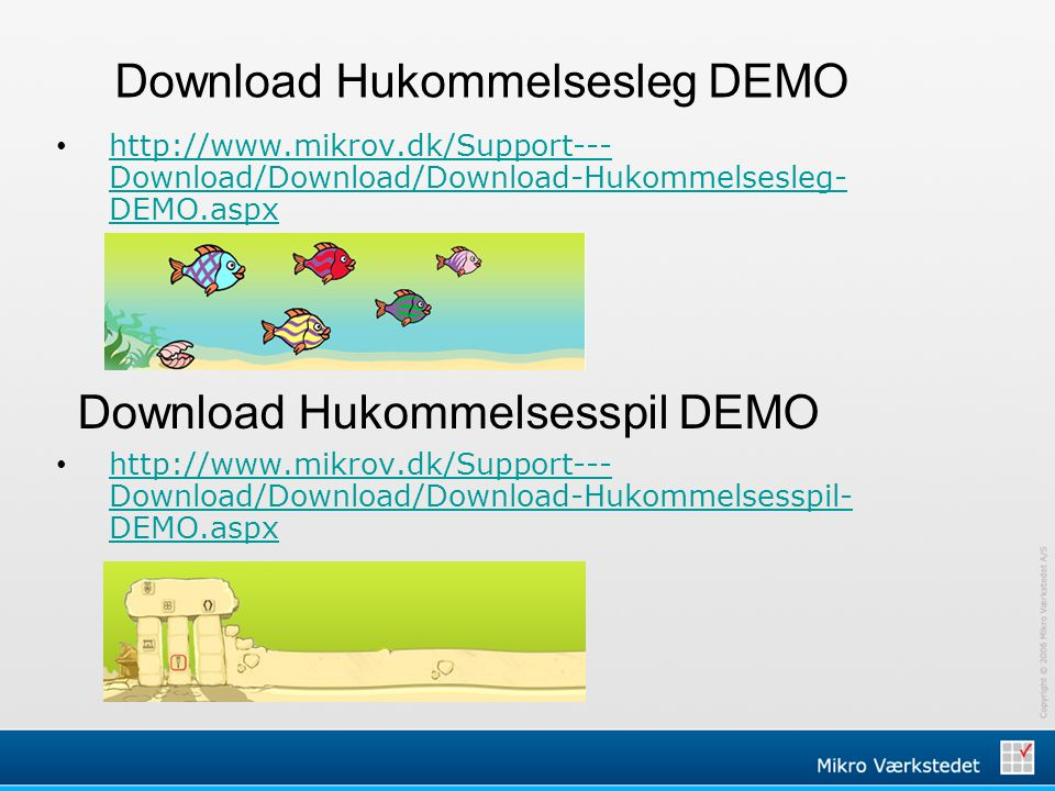 Download Hukommelsesleg DEMO