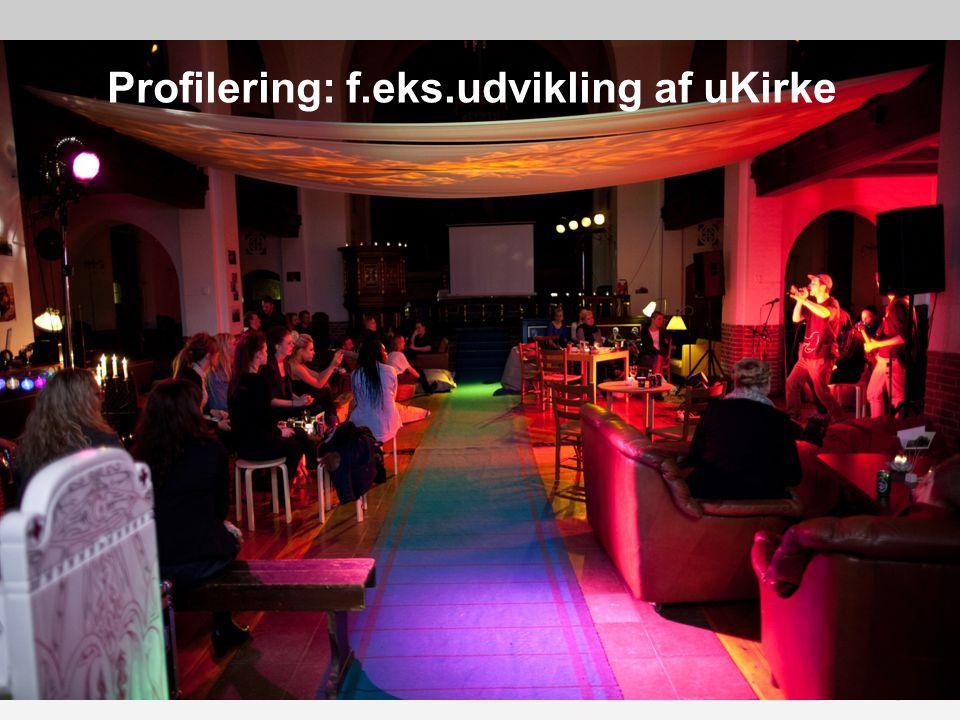 Profilering: f.eks.udvikling af uKirke