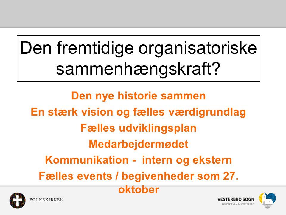 Den fremtidige organisatoriske sammenhængskraft