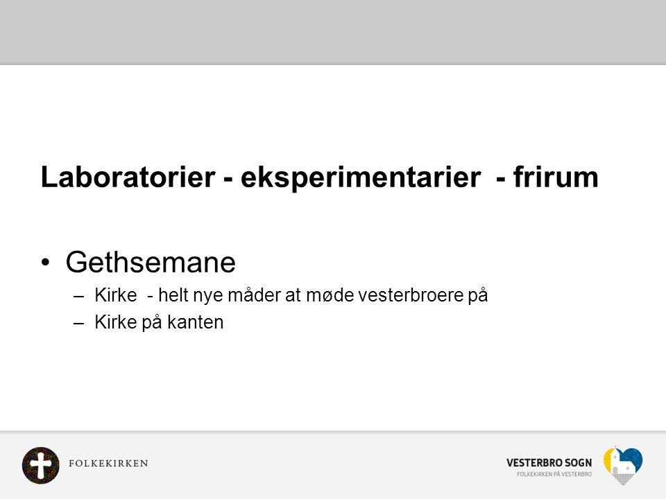 Laboratorier - eksperimentarier - frirum Gethsemane