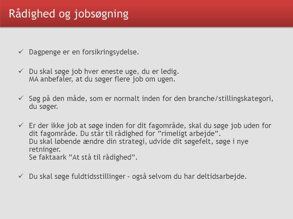 Rådighed og jobsøgning