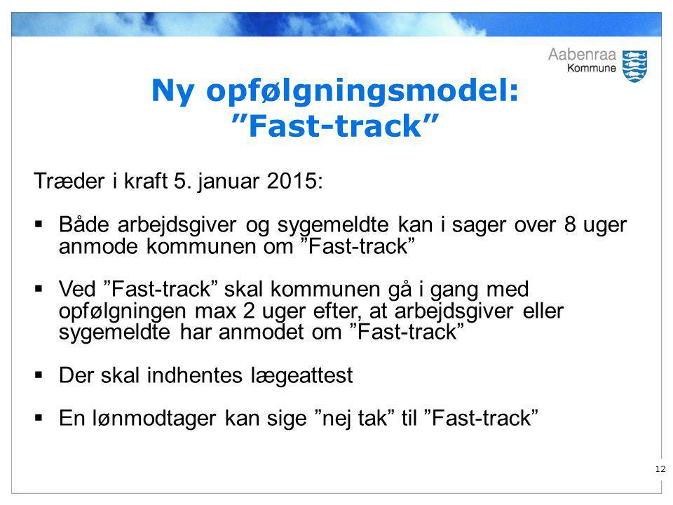 Ny opfølgningsmodel: Fast-track