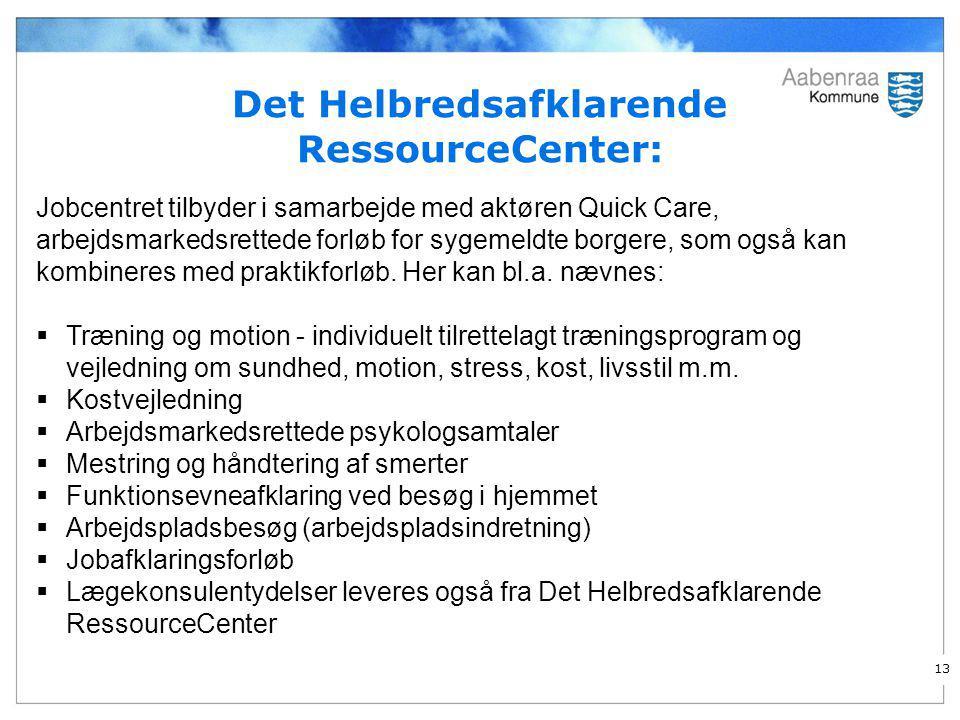 Det Helbredsafklarende RessourceCenter: