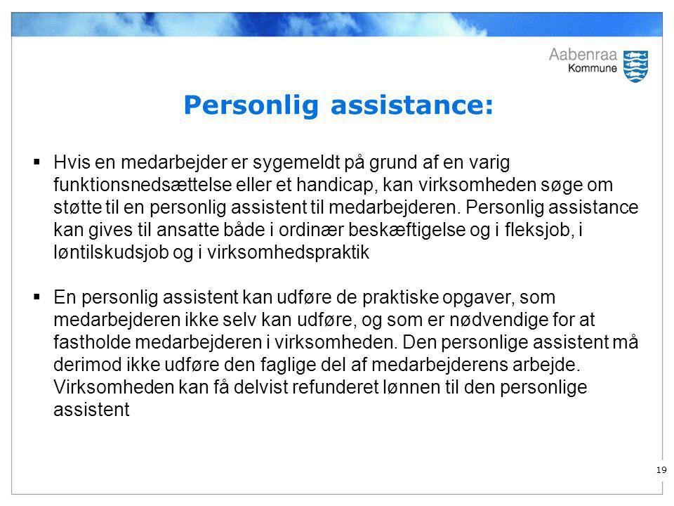 Personlig assistance: