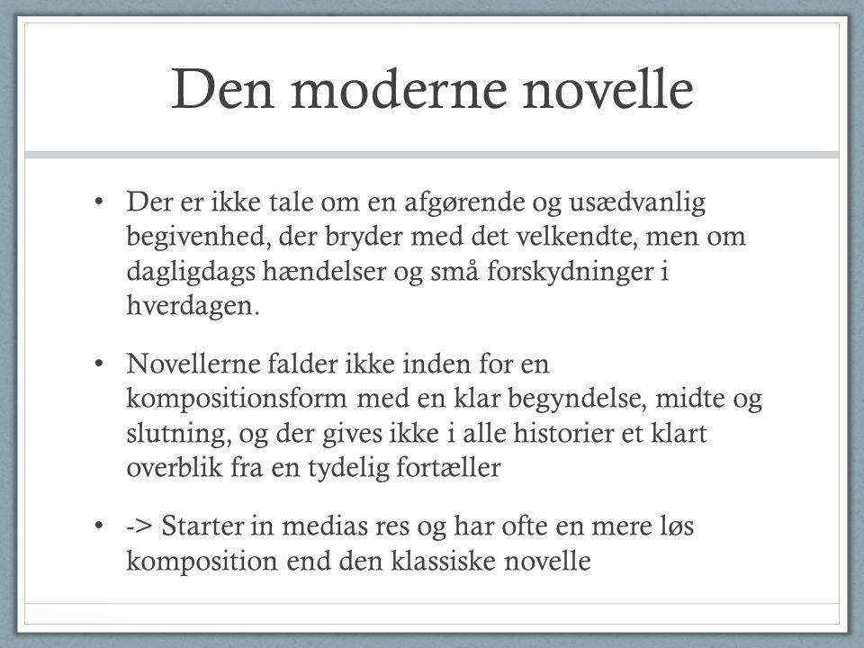 Den moderne novelle