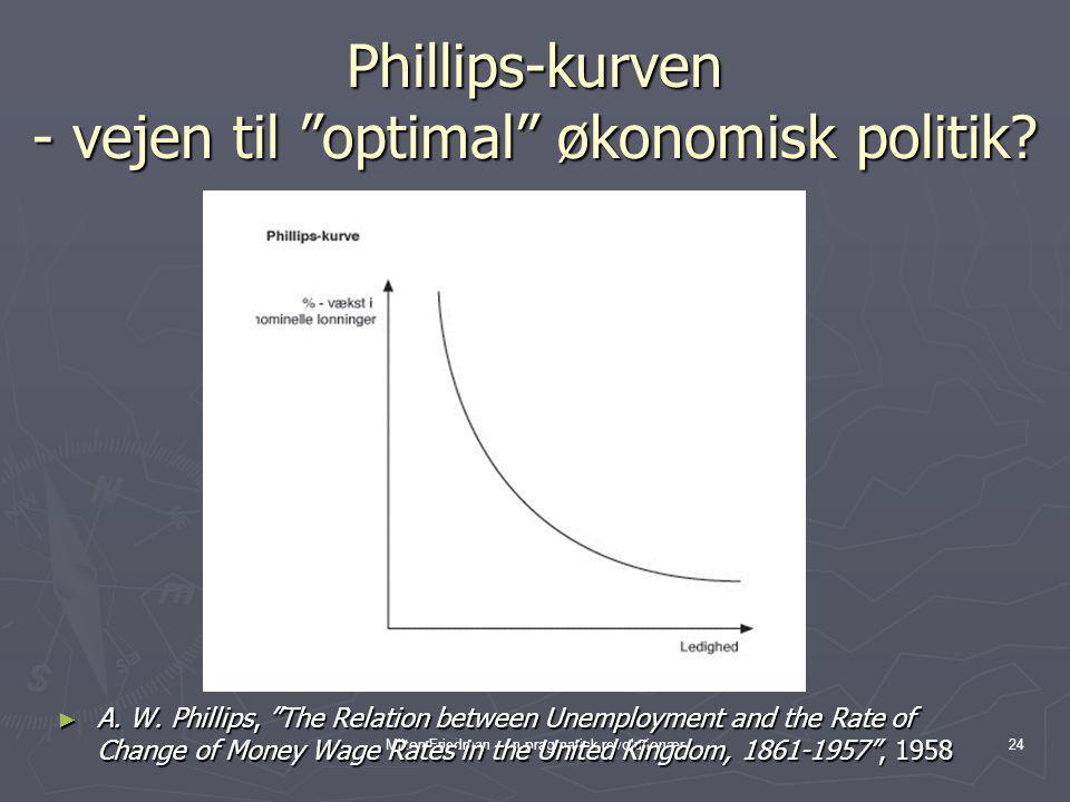 Phillips-kurven - vejen til optimal økonomisk politik
