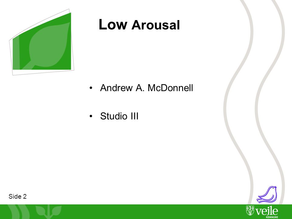 Low Arousal Andrew A. McDonnell Studio III