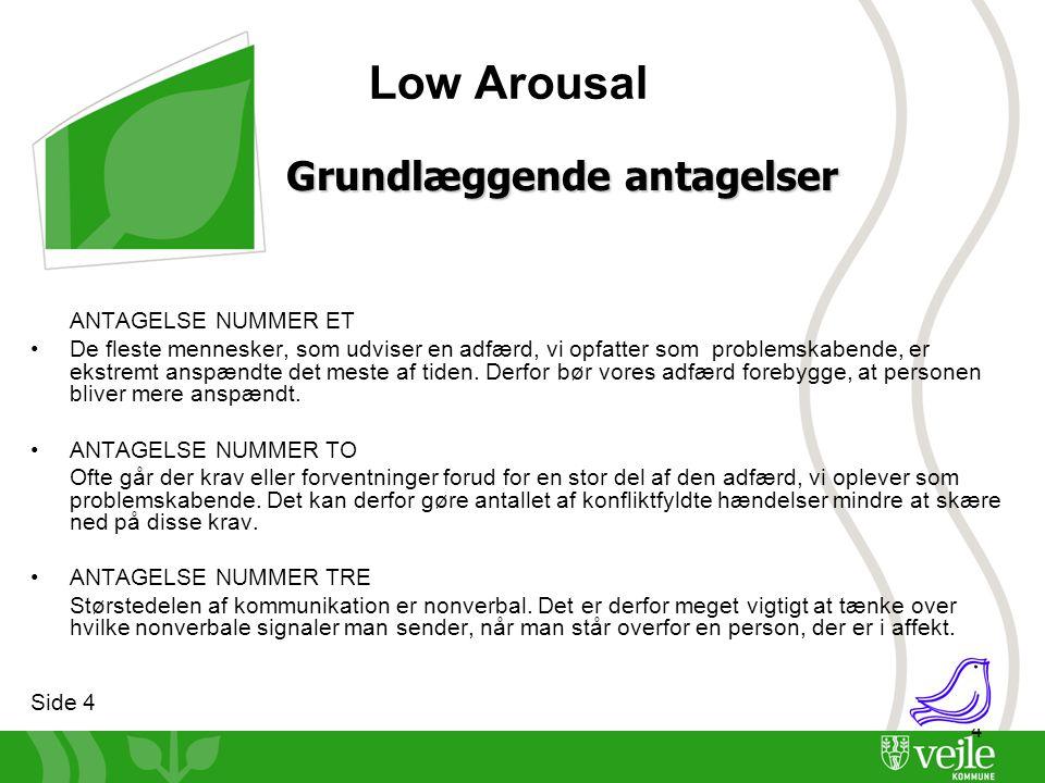 Low Arousal Grundlæggende antagelser ANTAGELSE NUMMER ET
