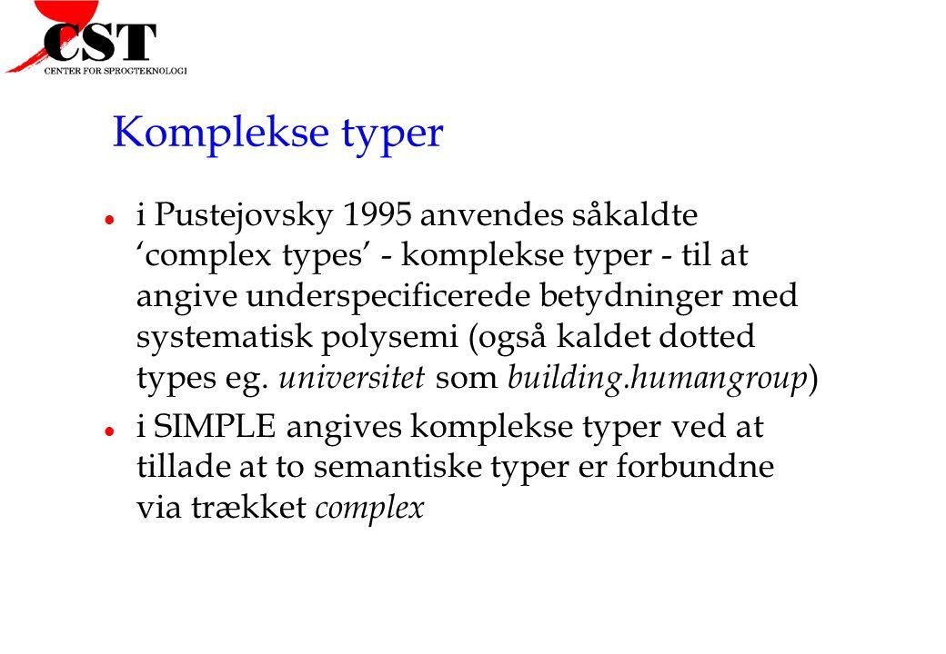 Komplekse typer