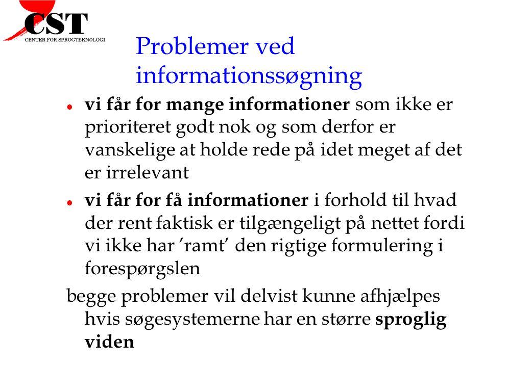 Problemer ved informationssøgning