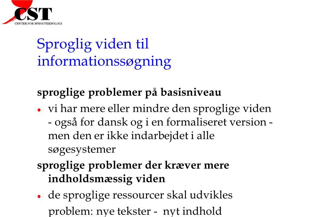 Sproglig viden til informationssøgning