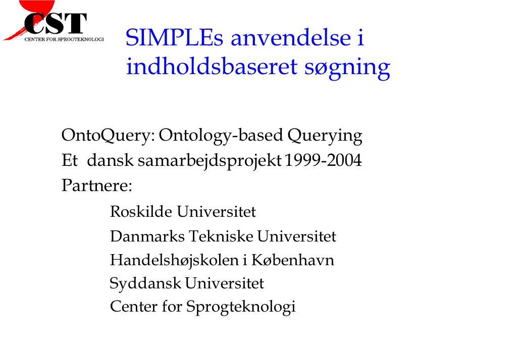 SIMPLEs anvendelse i indholdsbaseret søgning