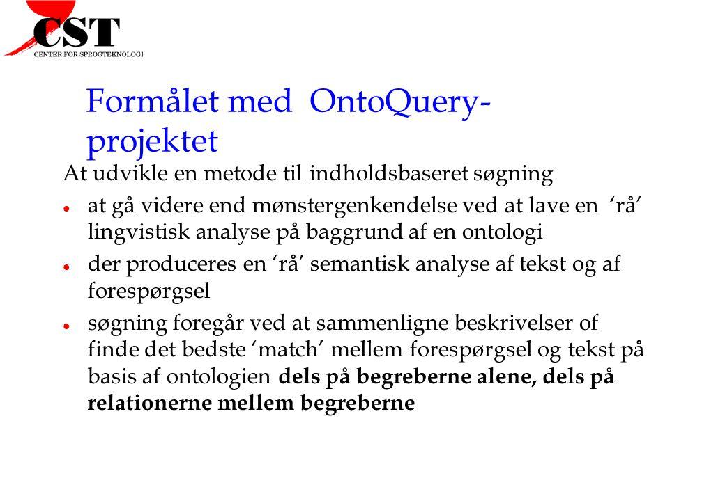 Formålet med OntoQuery- projektet