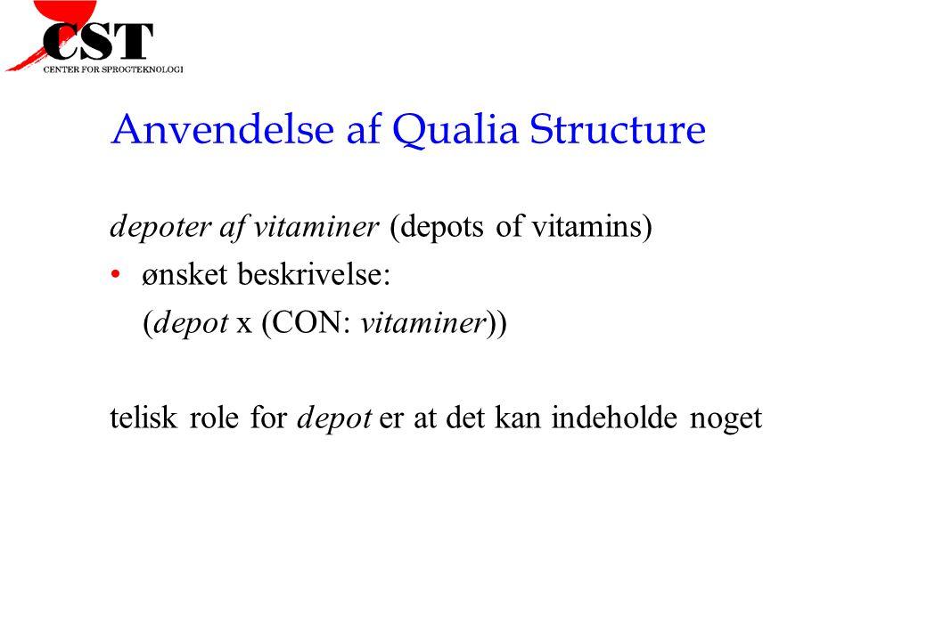 Anvendelse af Qualia Structure