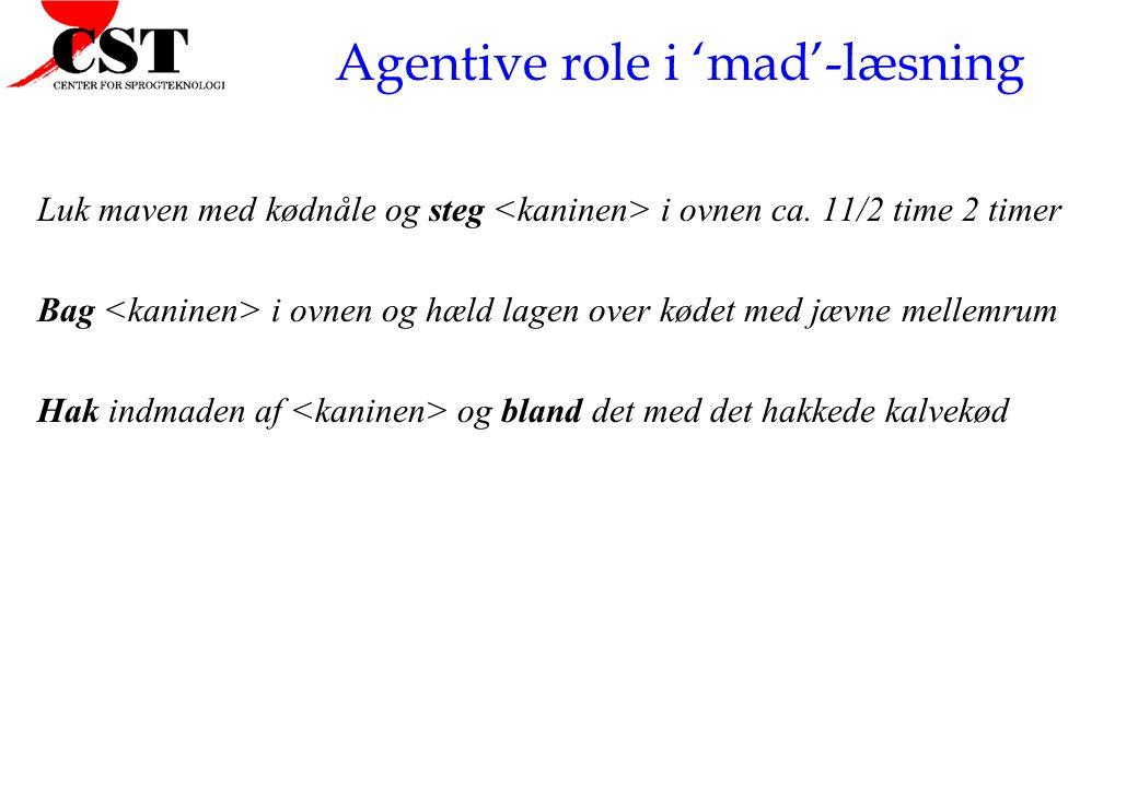 Agentive role i 'mad'-læsning