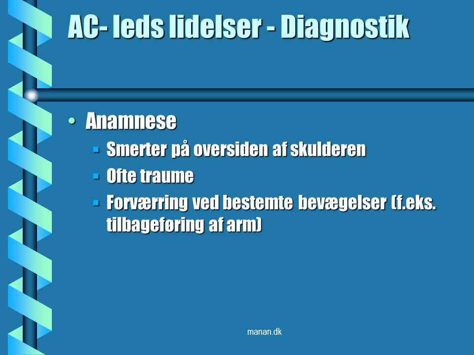 AC- leds lidelser - Diagnostik