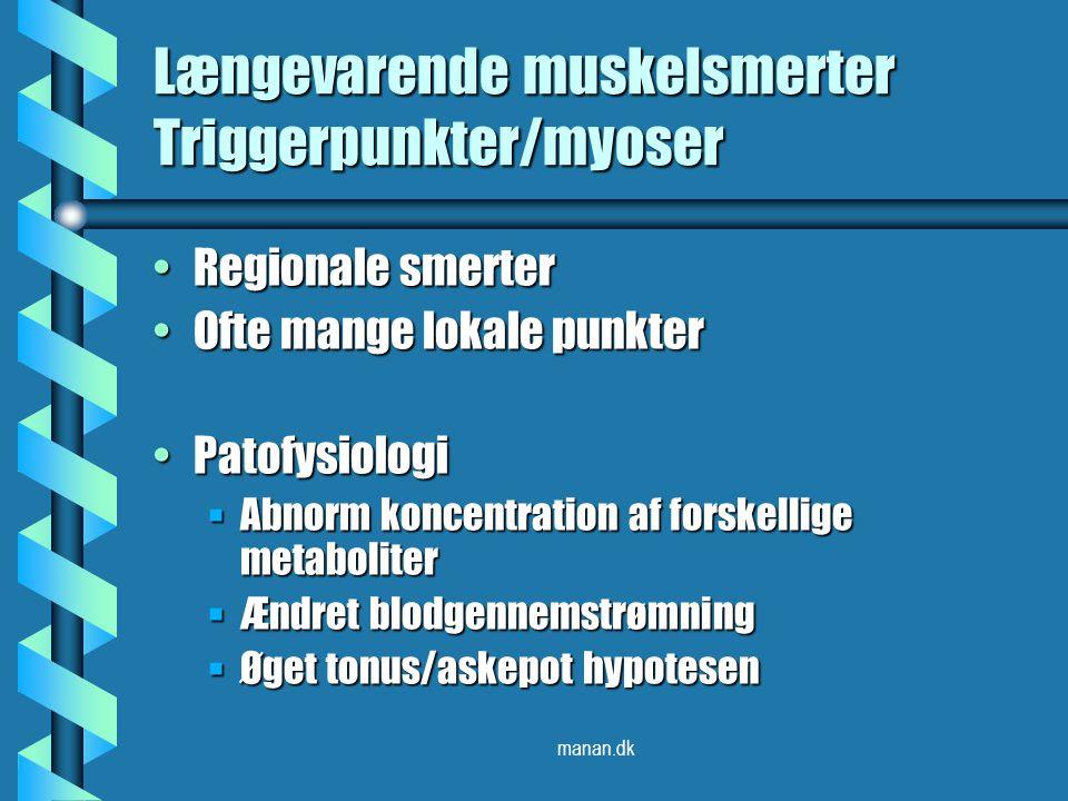 Længevarende muskelsmerter Triggerpunkter/myoser