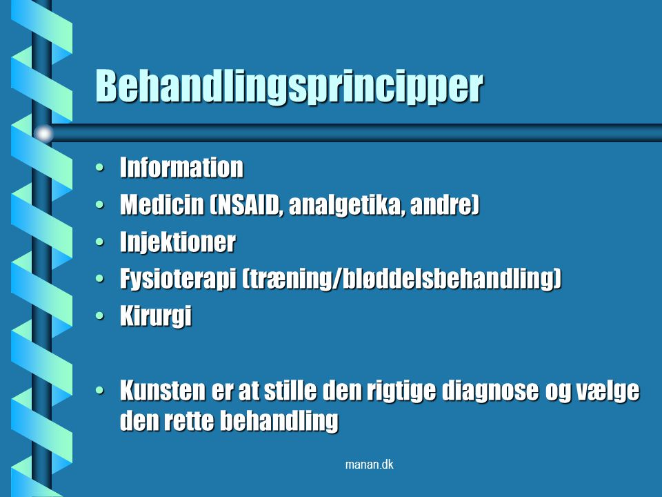Behandlingsprincipper