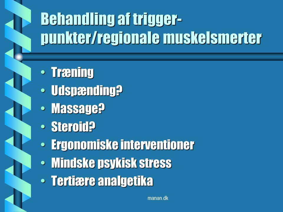 Behandling af trigger-punkter/regionale muskelsmerter