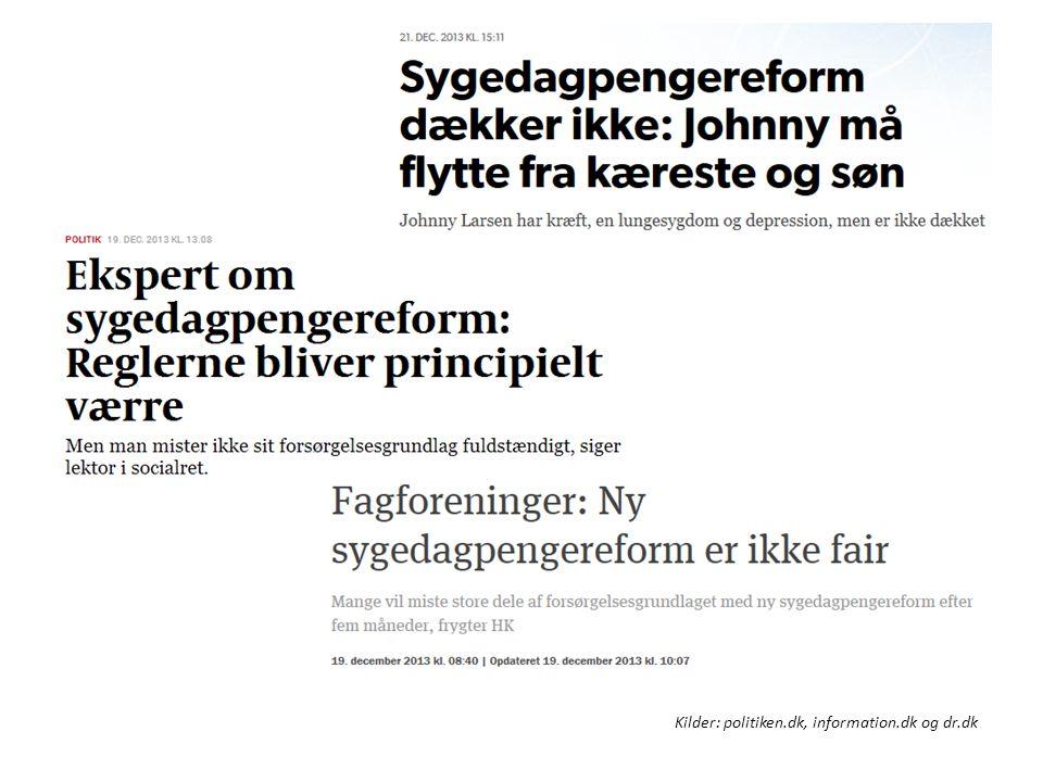 Enkeltsagerne. Kilder: politiken.dk, information.dk og dr.dk