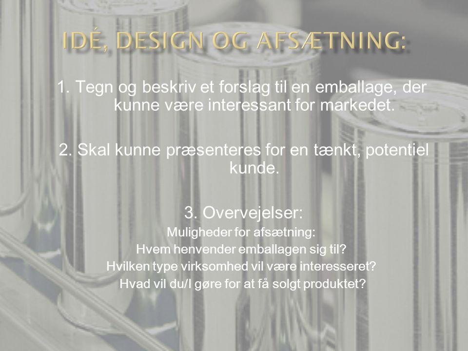 Idé, design og afsætning: