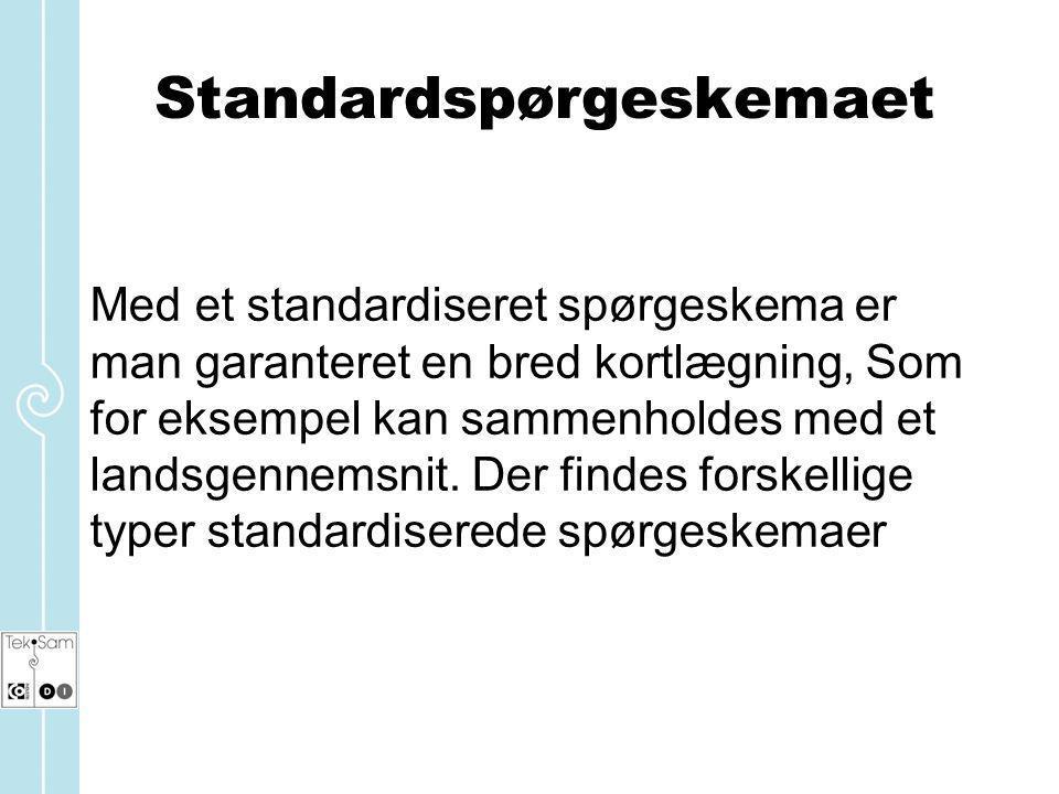 Standardspørgeskemaet