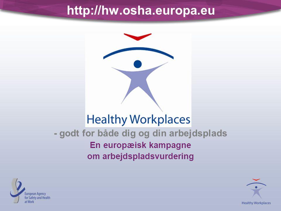 - godt for både dig og din arbejdsplads om arbejdspladsvurdering