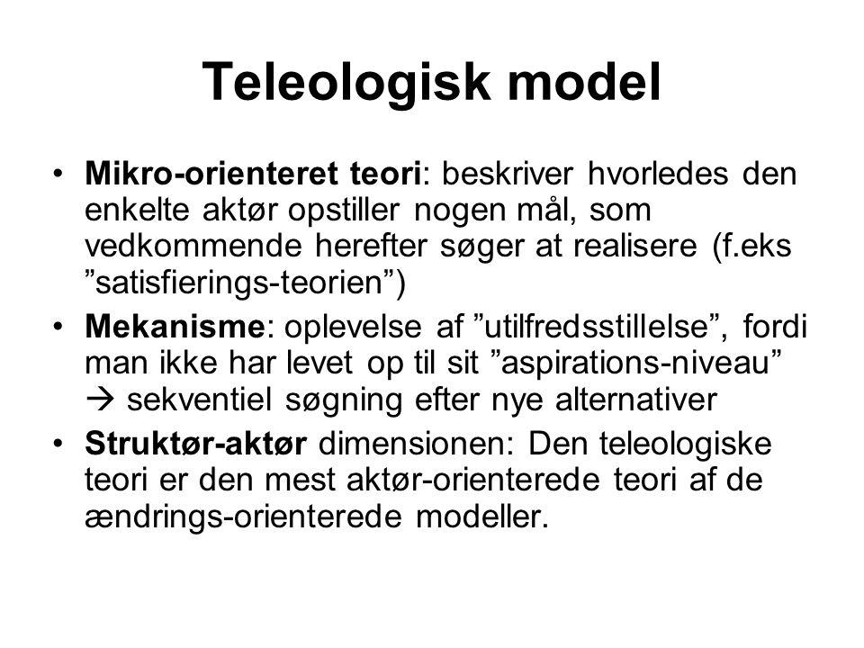 Teleologisk model