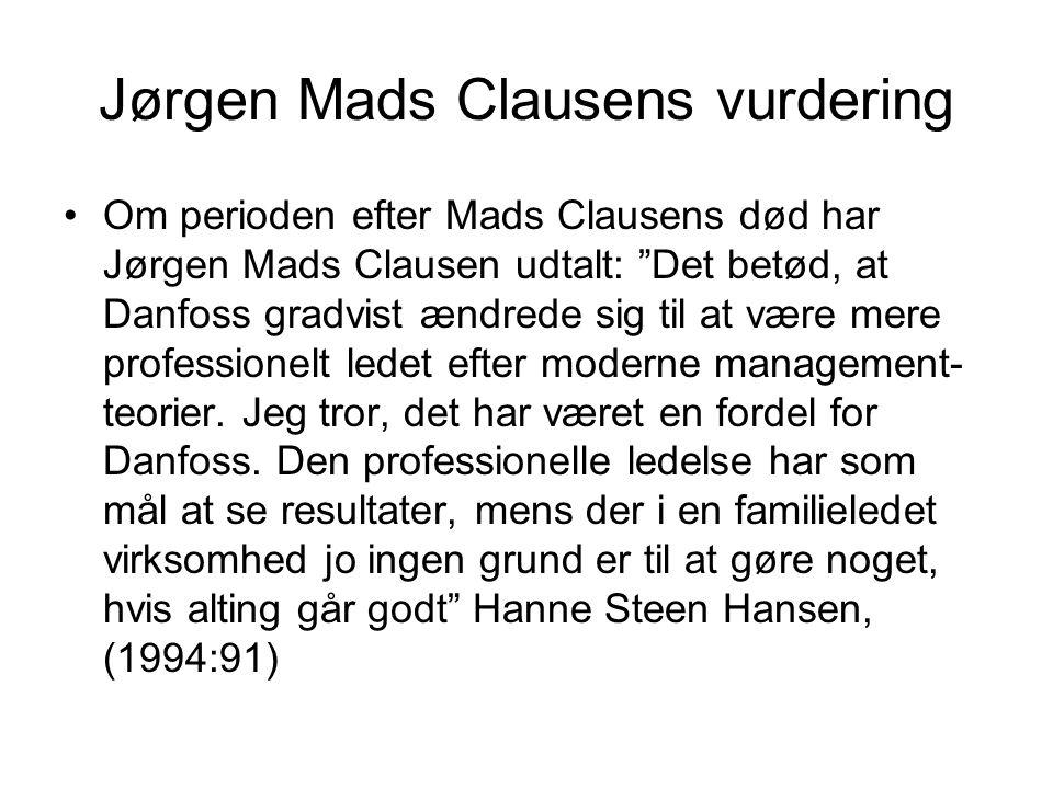 Jørgen Mads Clausens vurdering