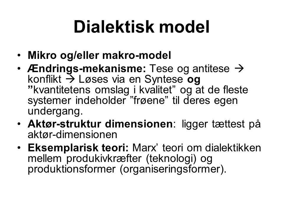 Dialektisk model Mikro og/eller makro-model