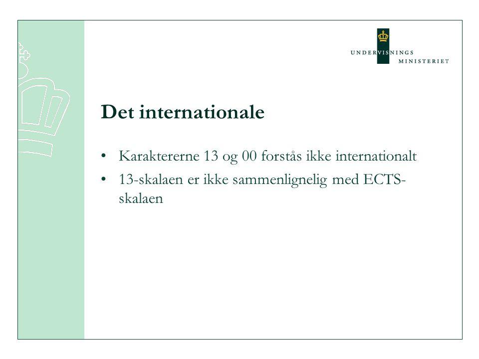 Det internationale Karaktererne 13 og 00 forstås ikke internationalt