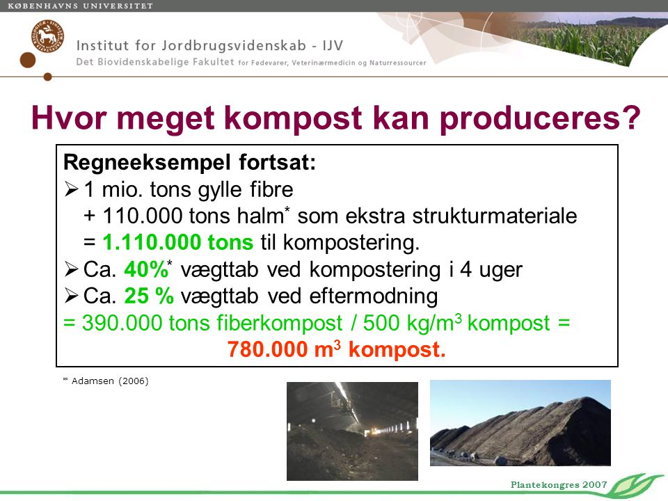 Hvor meget kompost kan produceres
