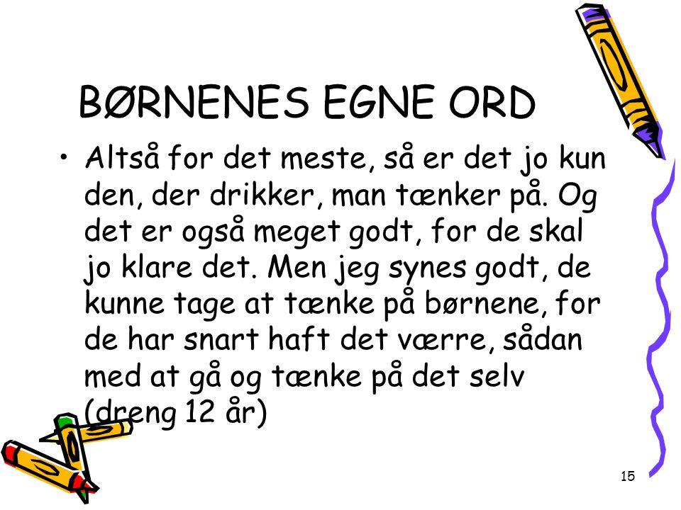 BØRNENES EGNE ORD