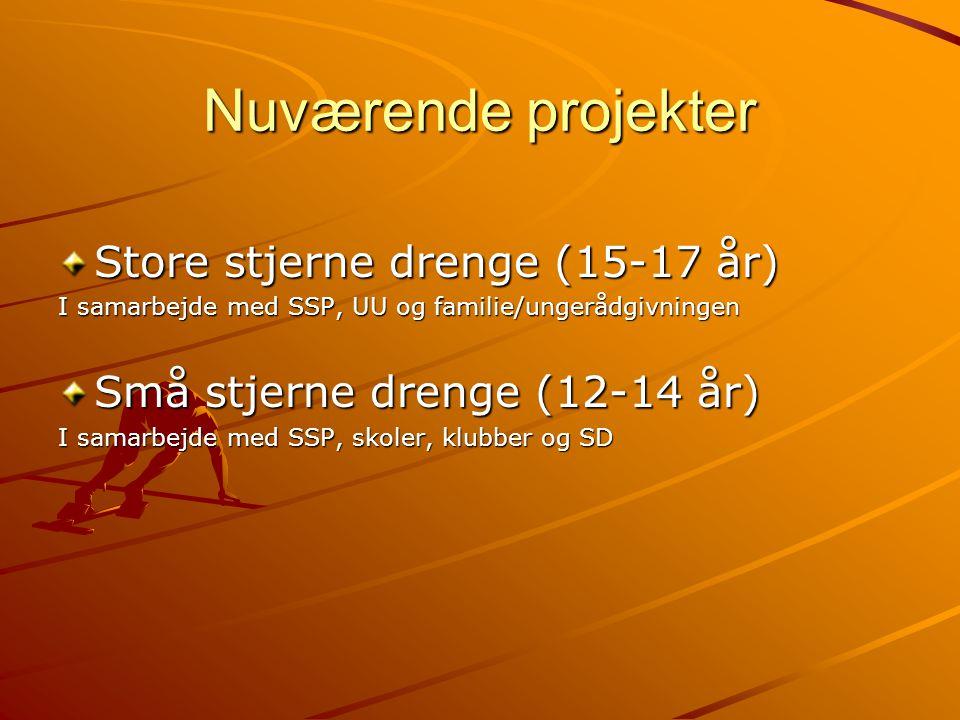 Nuværende projekter Store stjerne drenge (15-17 år)