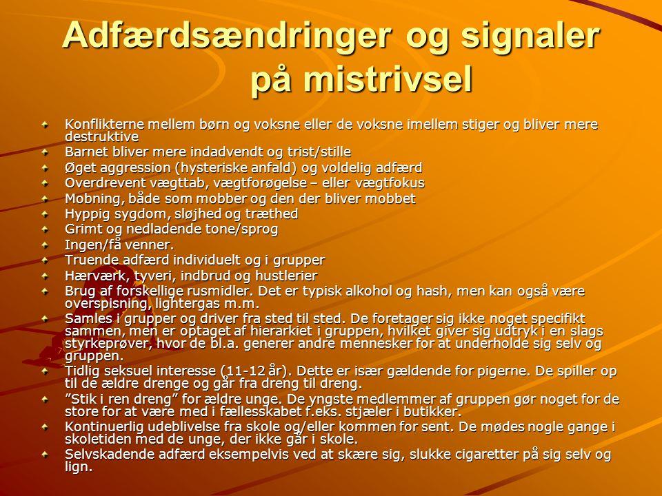 Adfærdsændringer og signaler på mistrivsel